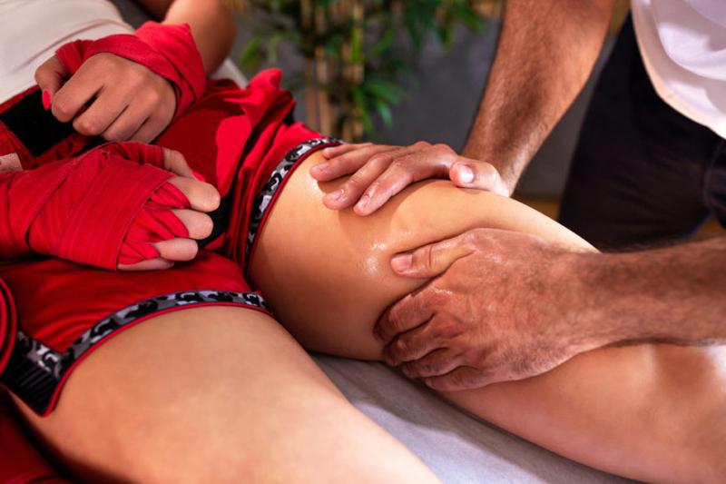 Masaje deportivo de recuperación