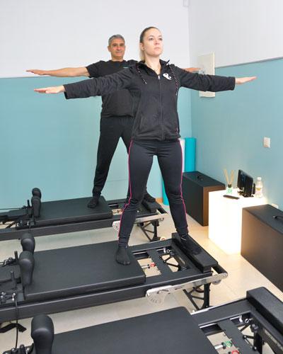 Pilates con máquinas en Moratalaz clases