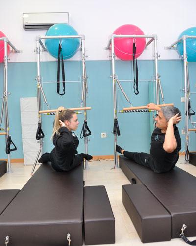 Pilates con máquinas en Vallecas clases